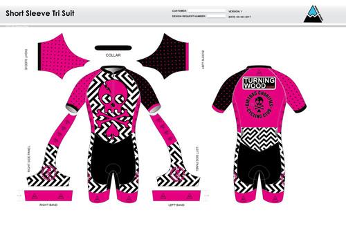Dirtbag Pink Short Sleeve Tri Suit