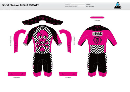 Dirtbag Pink ESCAPE Short Sleeve Tri Suit