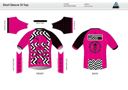 Dirtbag Pink Short Sleeve Aero Tri Top