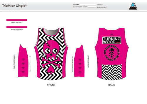 Dirtbag Pink Men's Tri Singlet