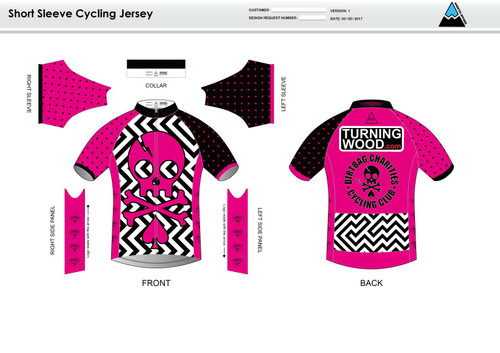 Dirtbag Pink Short Sleeve Cycling Jersey