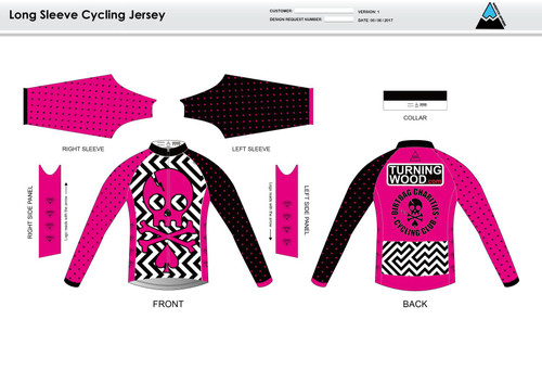 Dirtbag Pink Long Sleeve Cycling Jersey