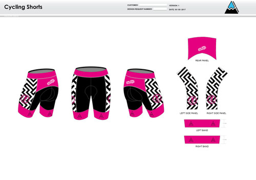 Dirtbag Pink Cycling Shorts