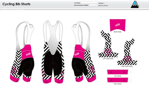 Dirtbag Pink Cycling Bibs
