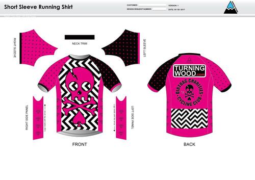 Dirtbag Pink Short Sleeve Running Shirt