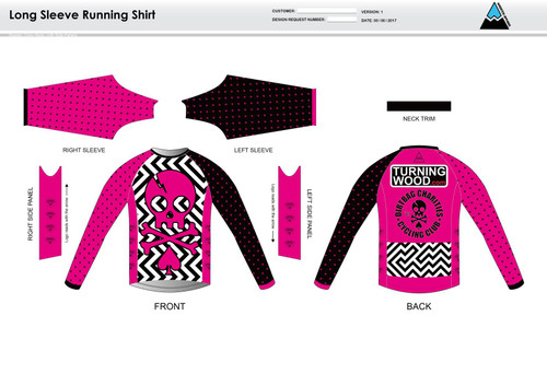 Dirtbag Pink Long Sleeve Running Shirt