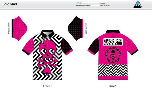 Dirtbag Pink Youth Polo Shirt