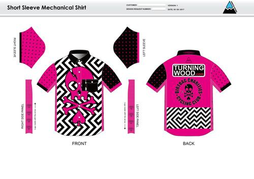 Dirtbag Pink Youth Mechanic Shirt
