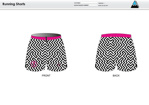 Dirtbag Pink Running Shorts
