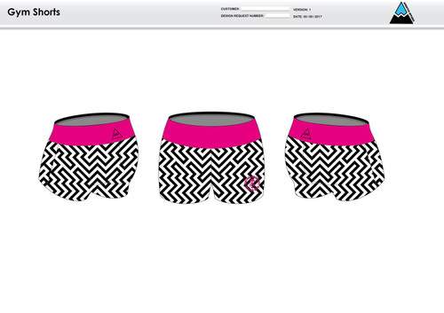 Dirtbag Pink Women's Compression Fitness Shorts