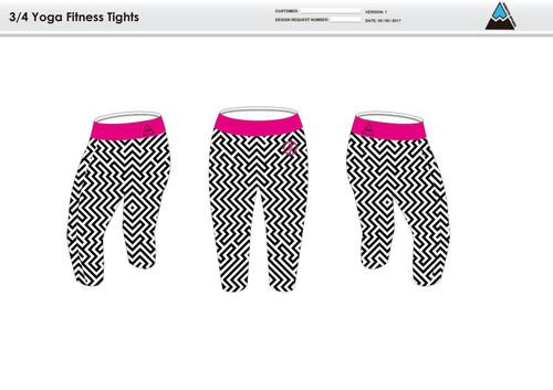 Dirtbag Pink Women's 3/4 Running Tights