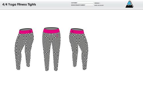 Dirtbag Pink Women's Full Length Fitness Tights