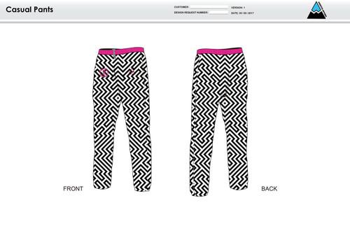 Dirtbag Pink Warm Up Pants