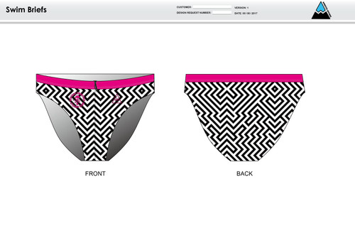 Dirtbag Pink Men's Swim Brief