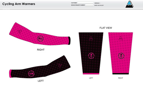 Dirtbag Pink Cycling Arm Sleeves
