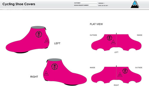 Dirtbag Pink Cycling Shoe Covers