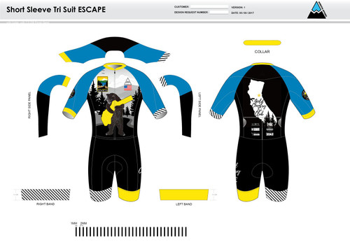 GC Anniversary ESCAPE Short Sleeve Tri Suit