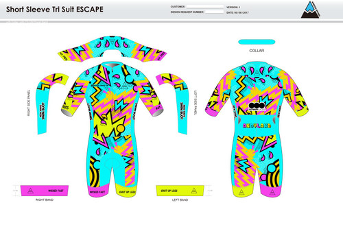 Andrea ESCAPE Short Sleeve Tri Suit