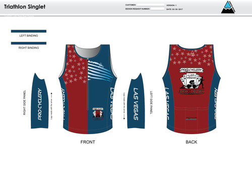 Aces and Eights Men's Tri Singlet