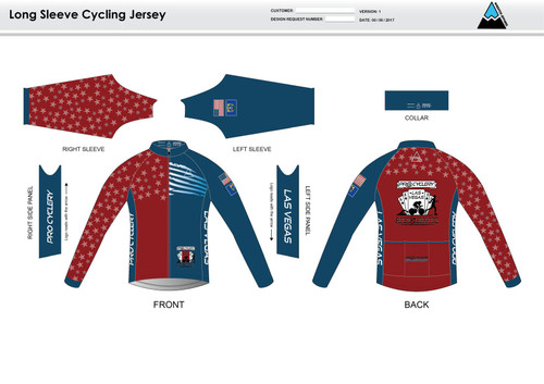 Aces and Eights Long Sleeve Cycling Jersey