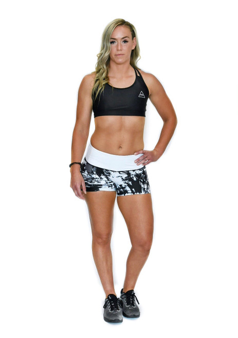 Grunge Women's Compression Fitness Shorts
