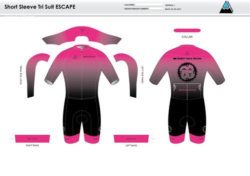 RHR ESCAPE Short Sleeve Tri Suit
