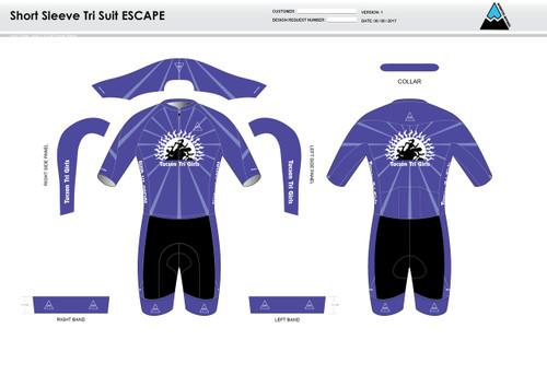Tucson ESCAPE Short Sleeve Tri Suit