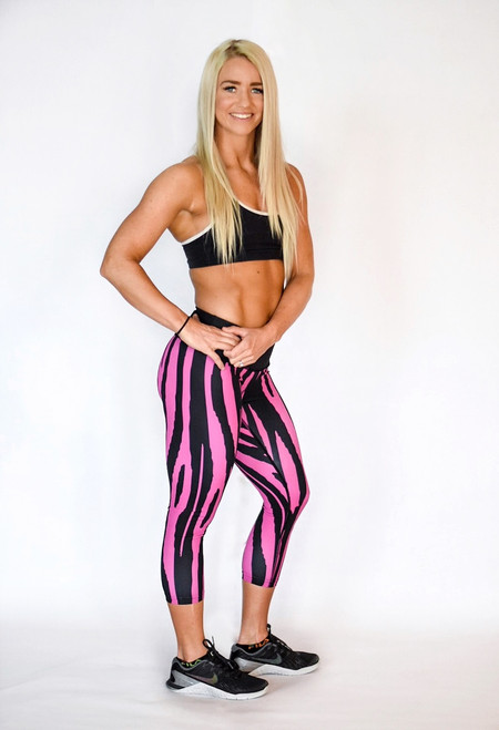 Pink Wildcat Women's 3/4 Fitness tights