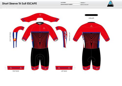 Team Preston Escape Short Sleeve Tri Suit