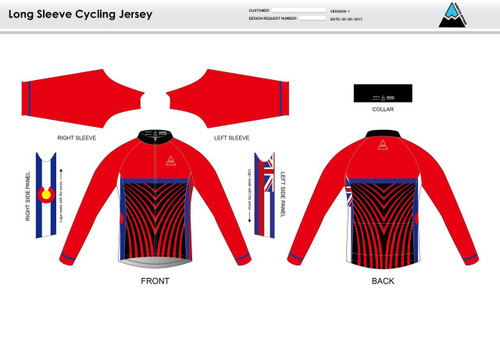 Team Preston Long Sleeve Cycling Jersey