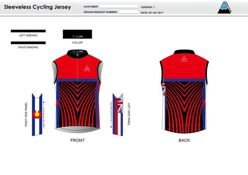 Team Preston Sleeveless Cycling Jersey