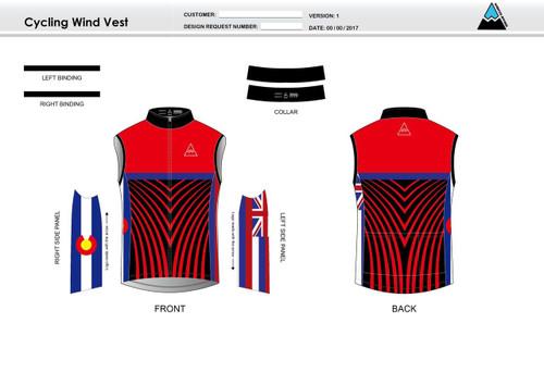 Team Preston Cycling Wind Vest
