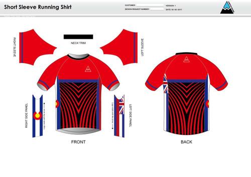 Team Preston Short Sleeve Running Shirt