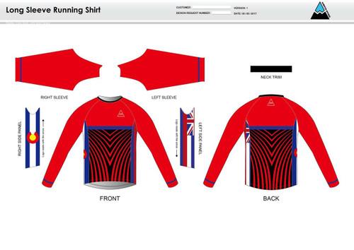 Team Preston Long Sleeve Running Shirt