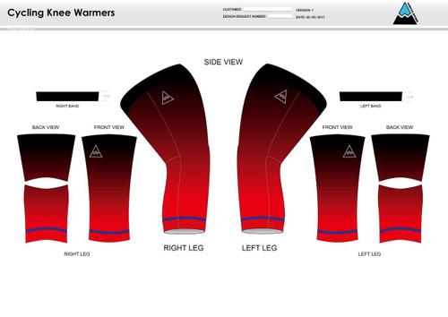 Team Preston Cycling Knee Sleeves