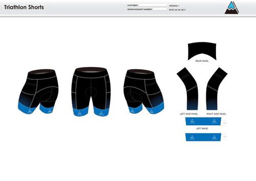 Gulf Coast Multisport Black Men's Tri Shorts