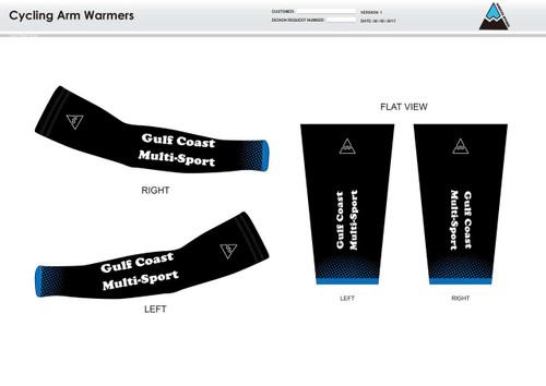 Gulf Coast Multisport Black Cycling Arm Sleeves