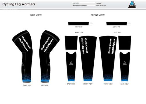 Gulf Coast Multisport Black Cycling Leg Sleeves