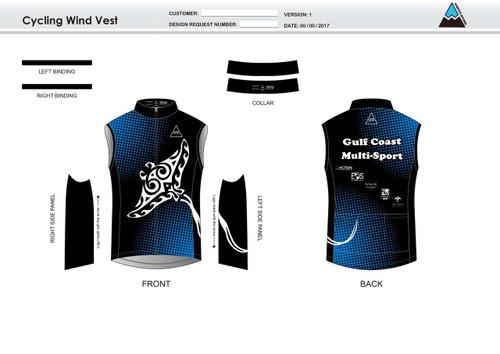 Gulf Coast Multisport Black Cycling Wind Vest