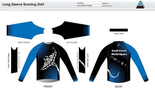 Gulf Coast Multisport Black Long Sleeve Running Shirt