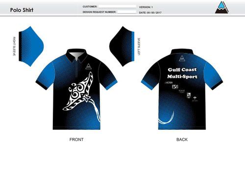 Gulf Coast Multisport Black Adult Polo Shirt