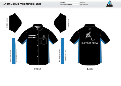 Gulf Coast Multisport Black Adult Mechanic Shirt - UNISEX Sizing