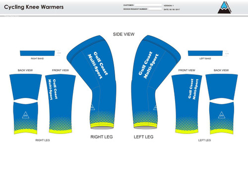 Gulf Coast Multisport Neon Cycling Knee Sleeves