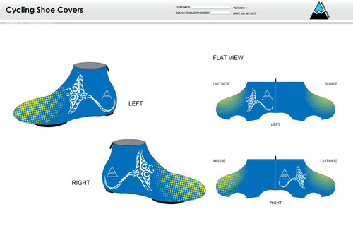 Gulf Coast Multisport Neon Cycling Shoe Covers