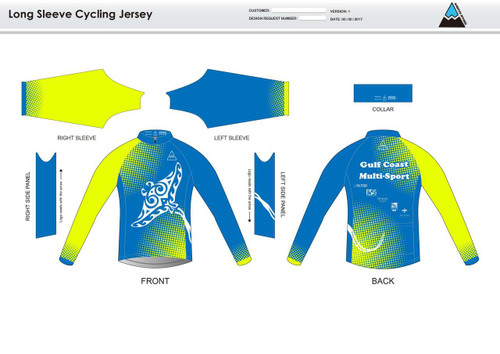Gulf Coast Multisport Neon Long Sleeve Cycling Jersey