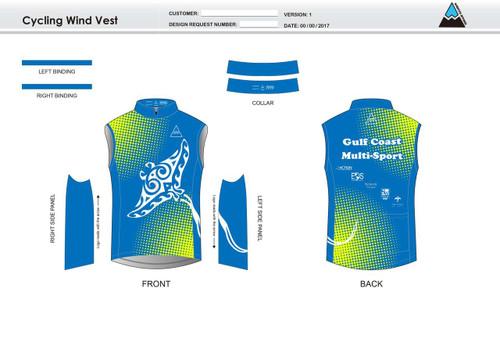Gulf Coast Multisport Neon Cycling Wind Vest