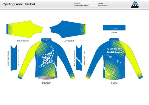 Gulf Coast Multisport Neon Cycling Wind Jacket