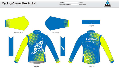 Gulf Coast Multisport Neon Convertible Jacket