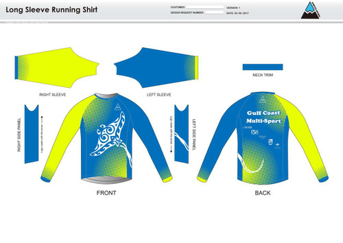 Gulf Coast Multisport Neon Long Sleeve Running Shirt