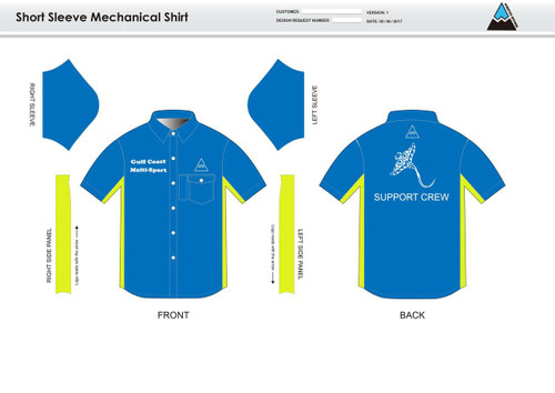 Gulf Coast Multisport Neon Adult Mechanic Shirt - UNISEX Sizing